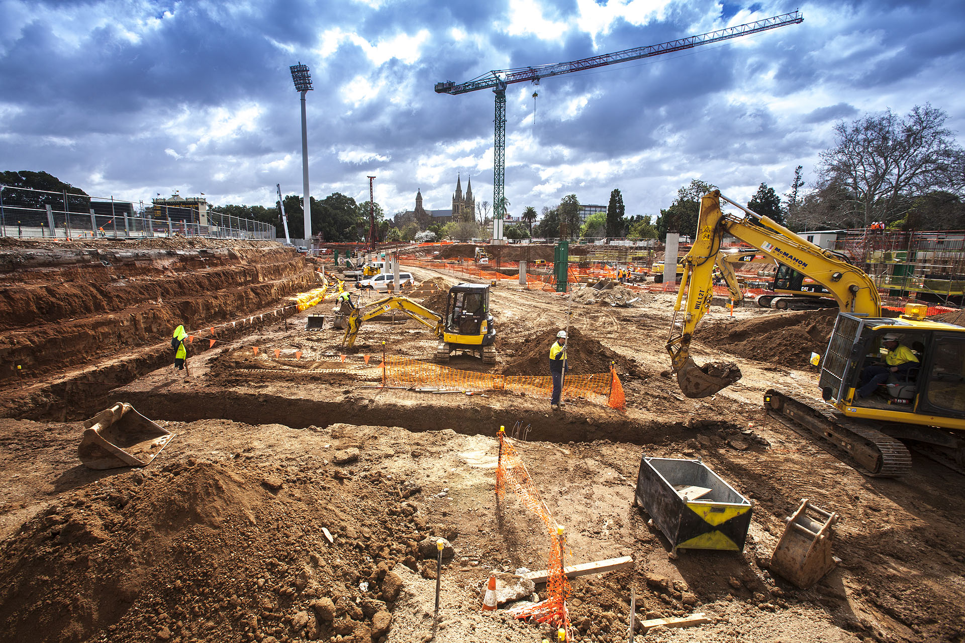 adelaide oval civil works