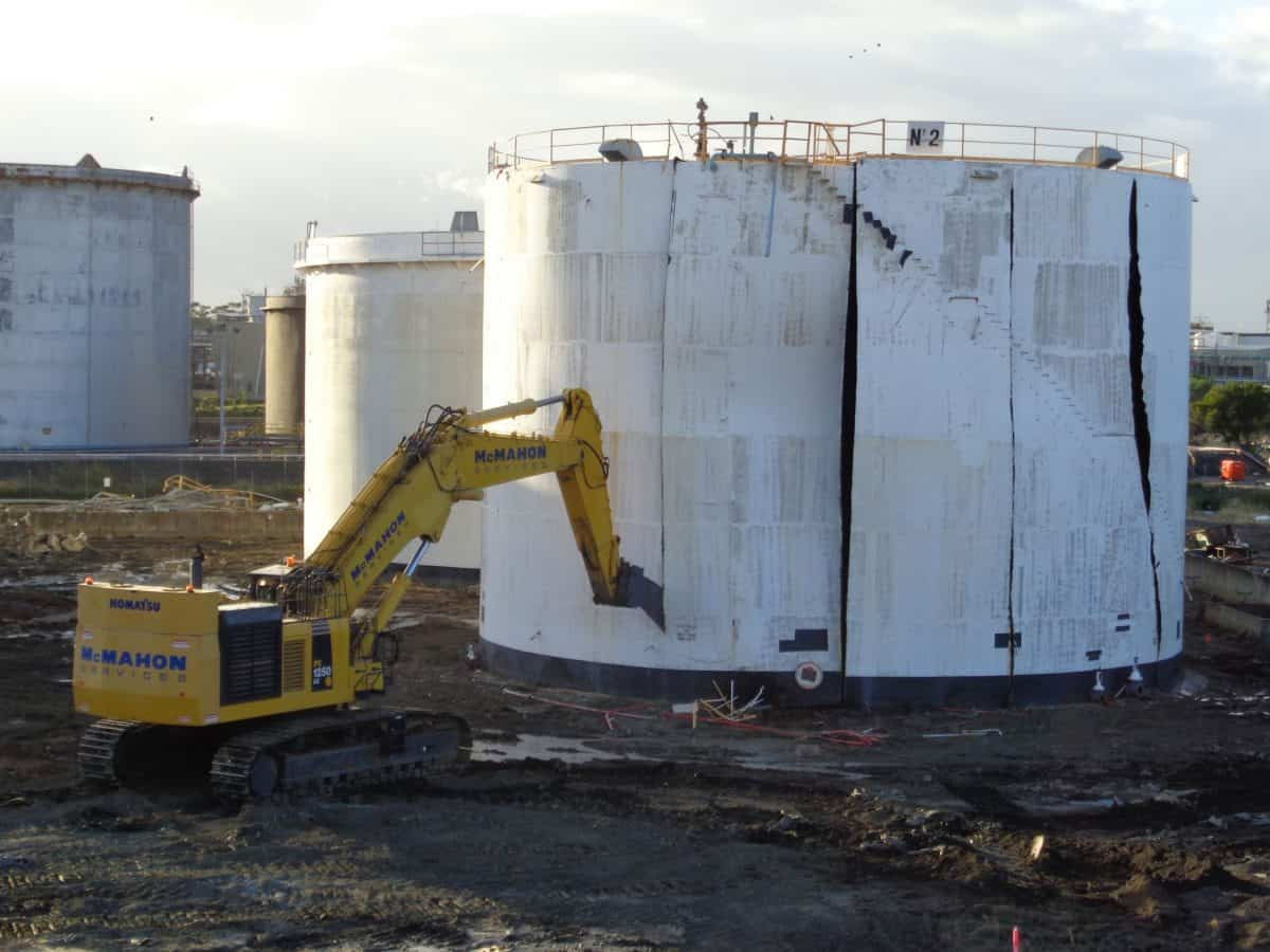 Steel Tank Demolition : Skillful close out for botany terminal mcmahon services