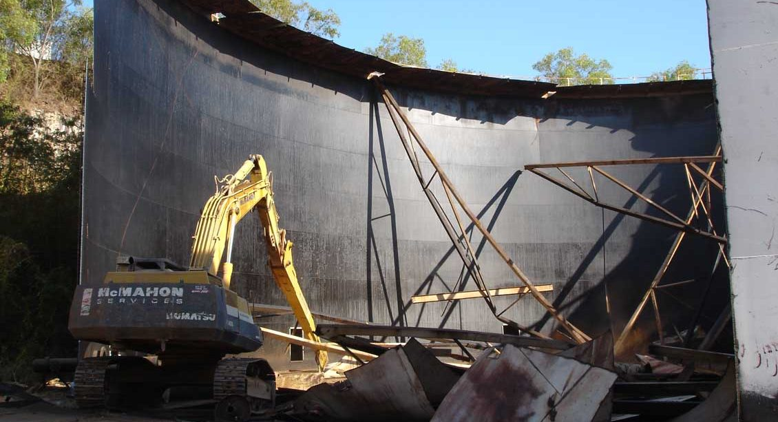Stokes Hill Tank Demolition Mcmahon Services