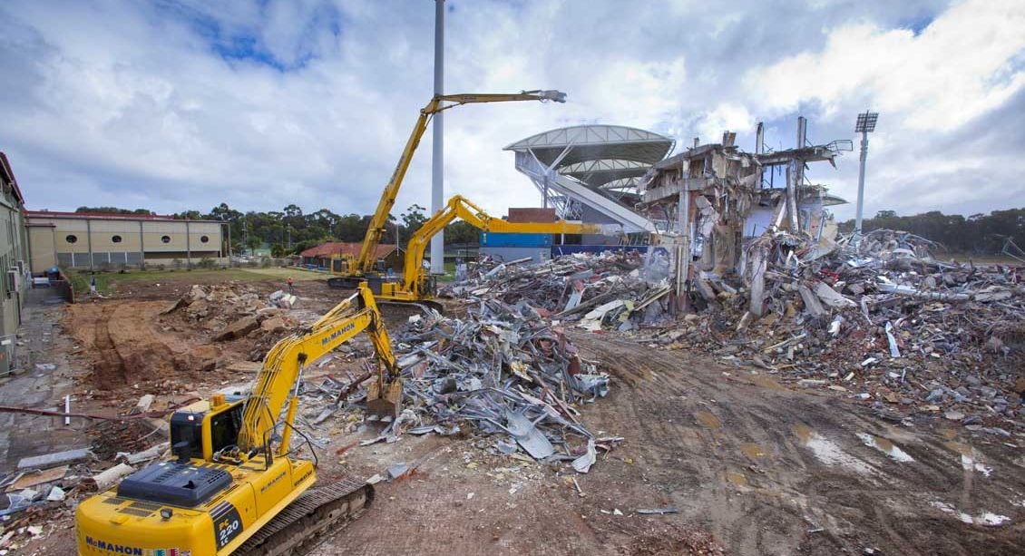 The remnants of the Bradman Stand, Adelaide Oval