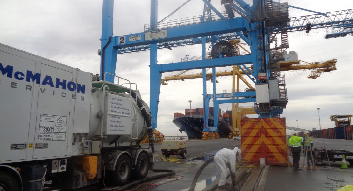 Flinders Ports Crane Rail Repairs | McMahon Services