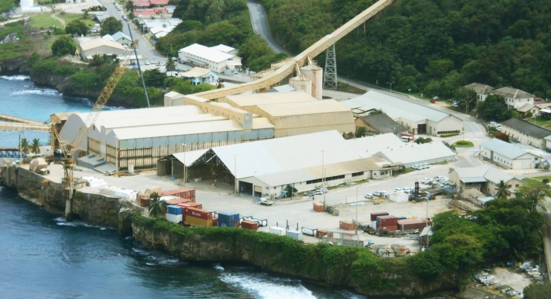 Aerial view of asbestos removal on Christmas Island