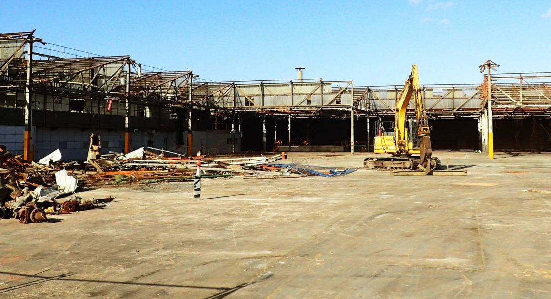 Demolition process of the Charles Sturt Industrial Estate