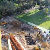 Aerial view of the Adelaide Botanic High School redevelopment