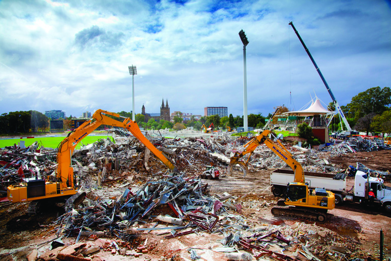 Adelaide Oval Demolition 18 Days
